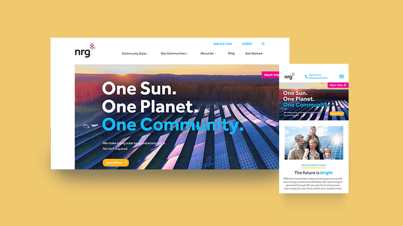 Project: NRG Community Solar Website