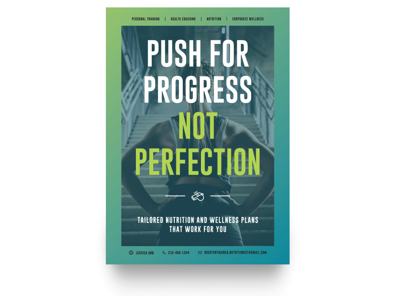 Push for Progress Not Perfection Campaign